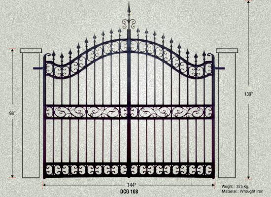 Driveway Gates Cast Iron Entrance Gate Manufacturer Gujarat India Garden